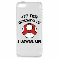 Чехол для iPhone5/5S/SE I'm not growing up, i level up