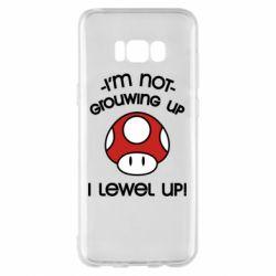 Чехол для Samsung S8+ I'm not growing up, i level up