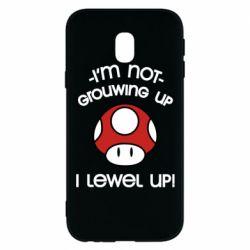 Чехол для Samsung J3 2017 I'm not growing up, i level up