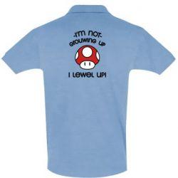 Мужская футболка поло I'm not growing up, i level up