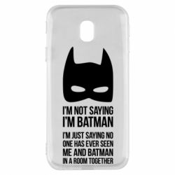 Чехол для Samsung J3 2017 I'm not saying i'm batman - FatLine
