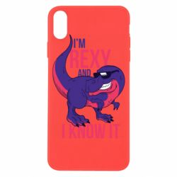 Чохол для iPhone X/Xs I'm Rexy and i know it