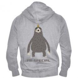 Мужская толстовка на молнии I'm special Sloth