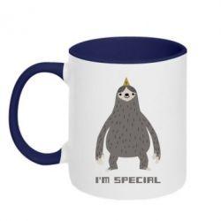 Кружка двухцветная I'm special Sloth