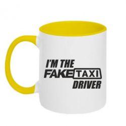 Кружка двухцветная 320ml I'm the Fake Taxi Driver