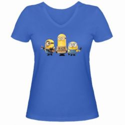 Женская футболка с V-образным вырезом I'm with stupid - FatLine