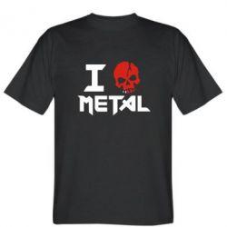 Мужская футболка I metal - FatLine