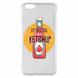 Чехол для iPhone 6 Plus/6S Plus I needs more ketchup