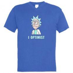 Чоловіча футболка з V-подібним вирізом I Optimist
