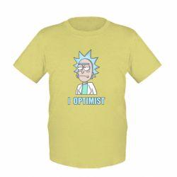 Дитяча футболка I Optimist