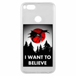 Чехол для Xiaomi Mi A1 I want to BELIEVE poster