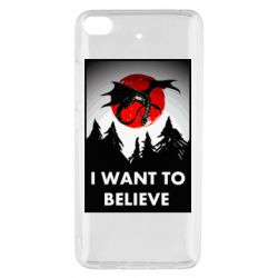Чехол для Xiaomi Mi 5s I want to BELIEVE poster