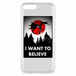 Чехол для Xiaomi Mi6 I want to BELIEVE poster