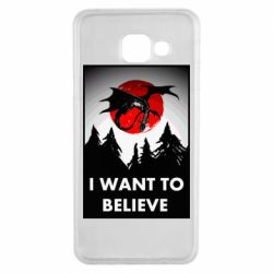 Чехол для Samsung A3 2016 I want to BELIEVE poster