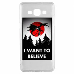 Чехол для Samsung A5 2015 I want to BELIEVE poster