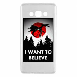 Чехол для Samsung A7 2015 I want to BELIEVE poster