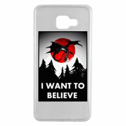 Чехол для Samsung A7 2016 I want to BELIEVE poster