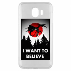 Чехол для Samsung J4 I want to BELIEVE poster