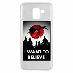 Чехол для Samsung J6 I want to BELIEVE poster