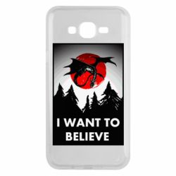 Чехол для Samsung J7 2015 I want to BELIEVE poster
