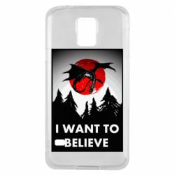 Чехол для Samsung S5 I want to BELIEVE poster