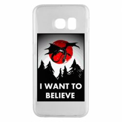 Чехол для Samsung S6 EDGE I want to BELIEVE poster