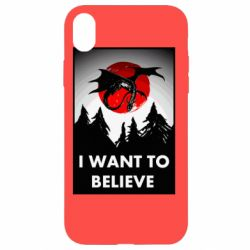 Чехол для iPhone XR I want to BELIEVE poster