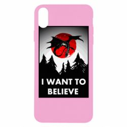 Чехол для iPhone Xs Max I want to BELIEVE poster