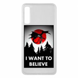 Чехол для Samsung A7 2018 I want to BELIEVE poster
