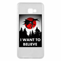 Чехол для Samsung J4 Plus 2018 I want to BELIEVE poster