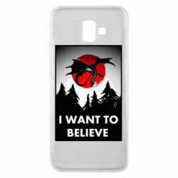 Чехол для Samsung J6 Plus 2018 I want to BELIEVE poster