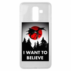Чехол для Samsung J8 2018 I want to BELIEVE poster