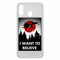 Чехол для Samsung A30 I want to BELIEVE poster
