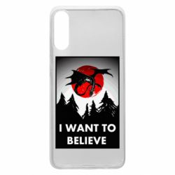 Чехол для Samsung A70 I want to BELIEVE poster