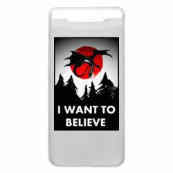Чехол для Samsung A80 I want to BELIEVE poster