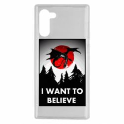 Чехол для Samsung Note 10 I want to BELIEVE poster