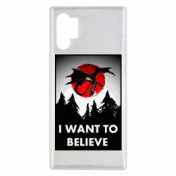 Чехол для Samsung Note 10 Plus I want to BELIEVE poster