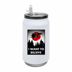 Термобанка 350ml I want to BELIEVE poster