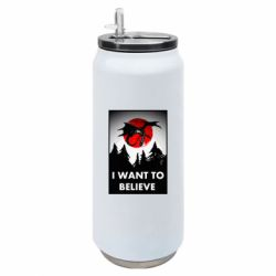 Термобанка 500ml I want to BELIEVE poster