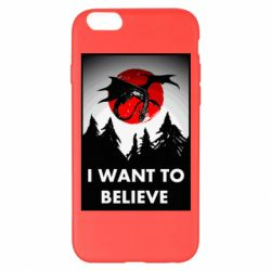 Чехол для iPhone 6 Plus/6S Plus I want to BELIEVE poster