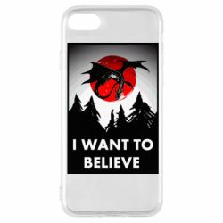 Чехол для iPhone 7 I want to BELIEVE poster