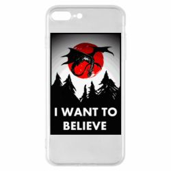 Чехол для iPhone 7 Plus I want to BELIEVE poster