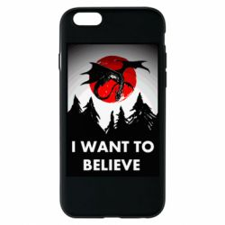 Чехол для iPhone 6/6S I want to BELIEVE poster