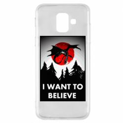 Чехол для Samsung A6 2018 I want to BELIEVE poster