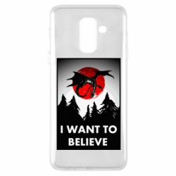 Чехол для Samsung A6+ 2018 I want to BELIEVE poster