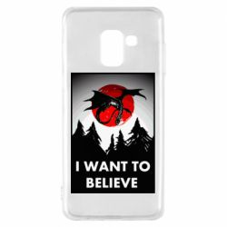 Чехол для Samsung A8 2018 I want to BELIEVE poster