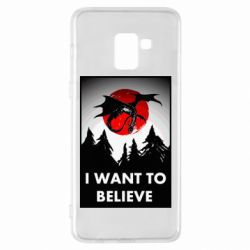 Чехол для Samsung A8+ 2018 I want to BELIEVE poster