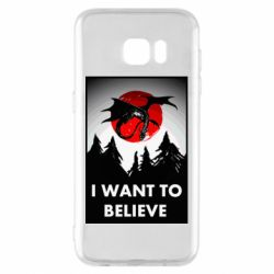 Чехол для Samsung S7 EDGE I want to BELIEVE poster