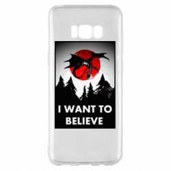 Чехол для Samsung S8+ I want to BELIEVE poster