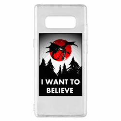 Чехол для Samsung Note 8 I want to BELIEVE poster